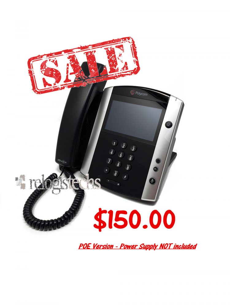 Polycom® VVX® 600 Business Media Phone-POE **SALE**