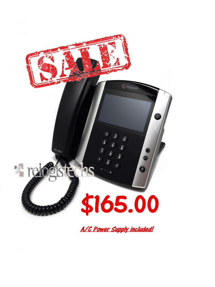 Polycom® VVX® 600 Business Media Phone w/Power **SALE**
