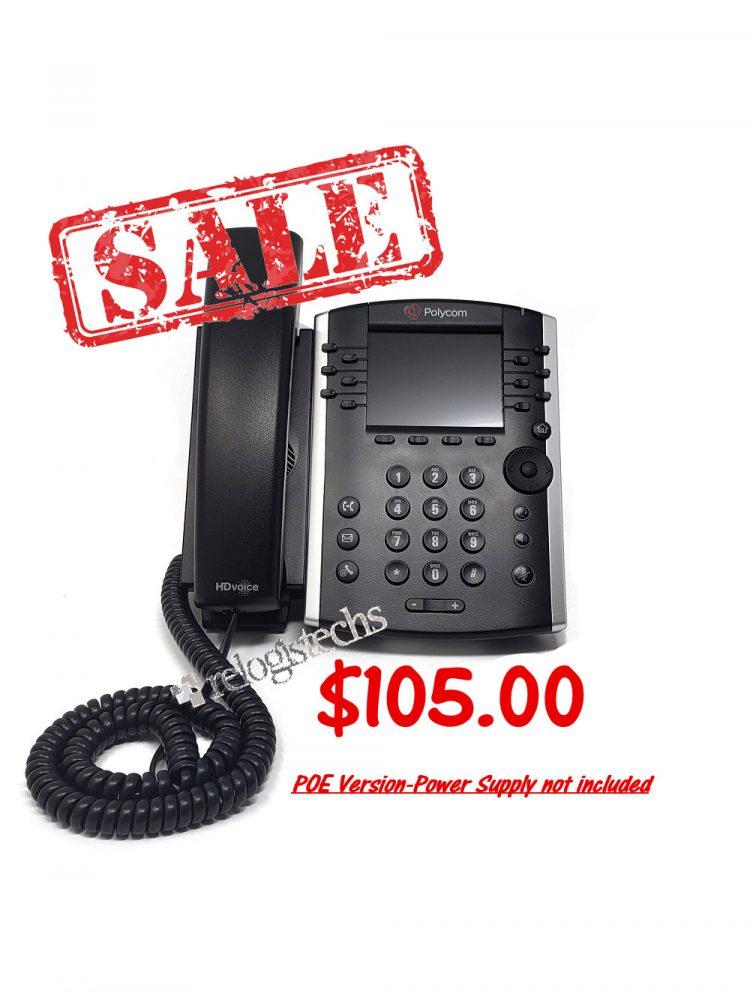 Polycom® VVX® 400 Business Media Phone -POE **Sale**