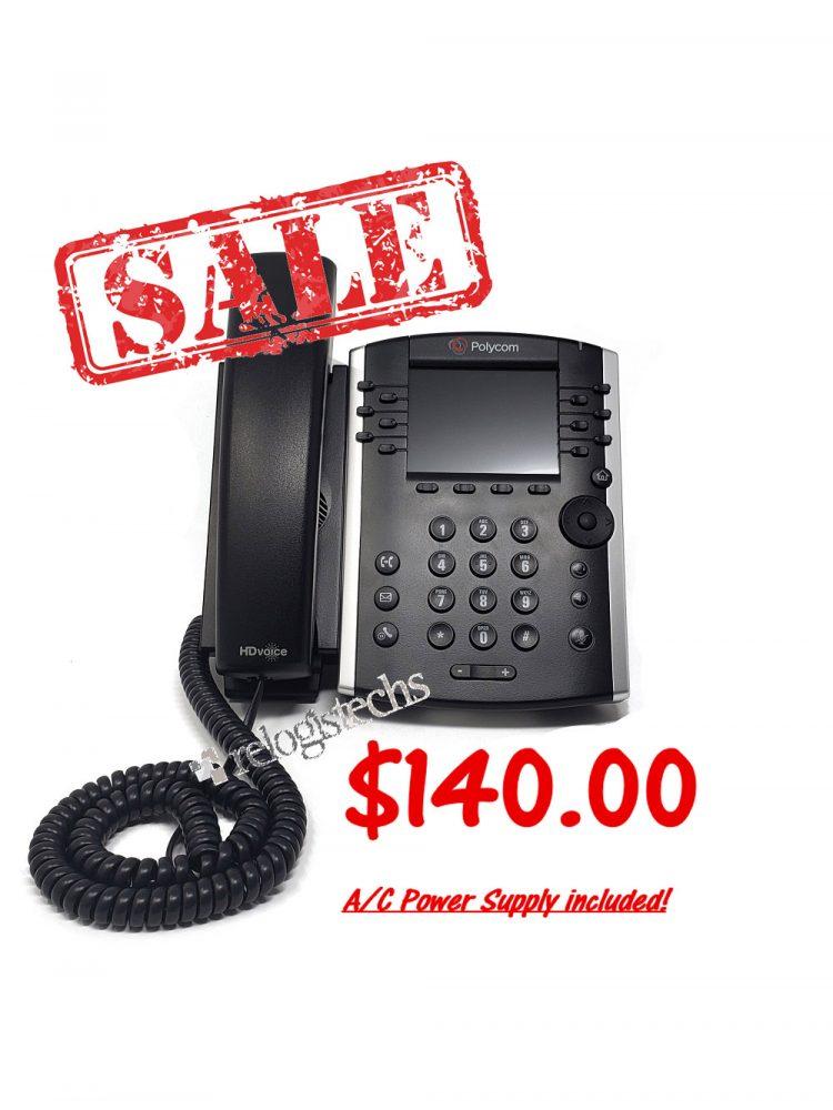 Polycom® VVX® 400 Business Media Phone w/Power **Sale**
