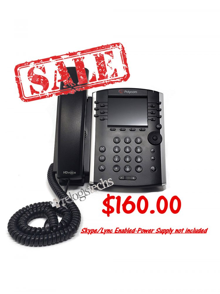 Polycom® VVX® 400 Business Media Phone w/Skype for Business **Sale**